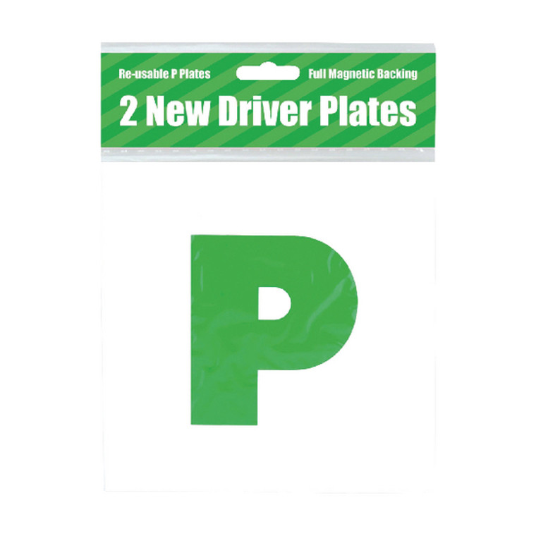 POF01845 2 Magnetic P Plates Pack 10 C399