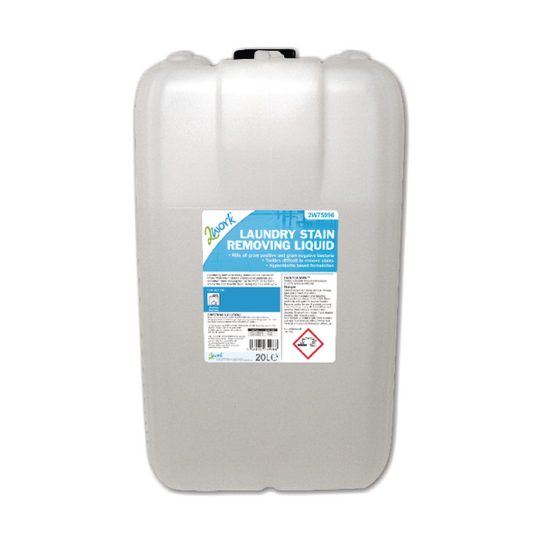2W75996 2Work Laundry Stain Removing Liquid 20 Litre 2W75996