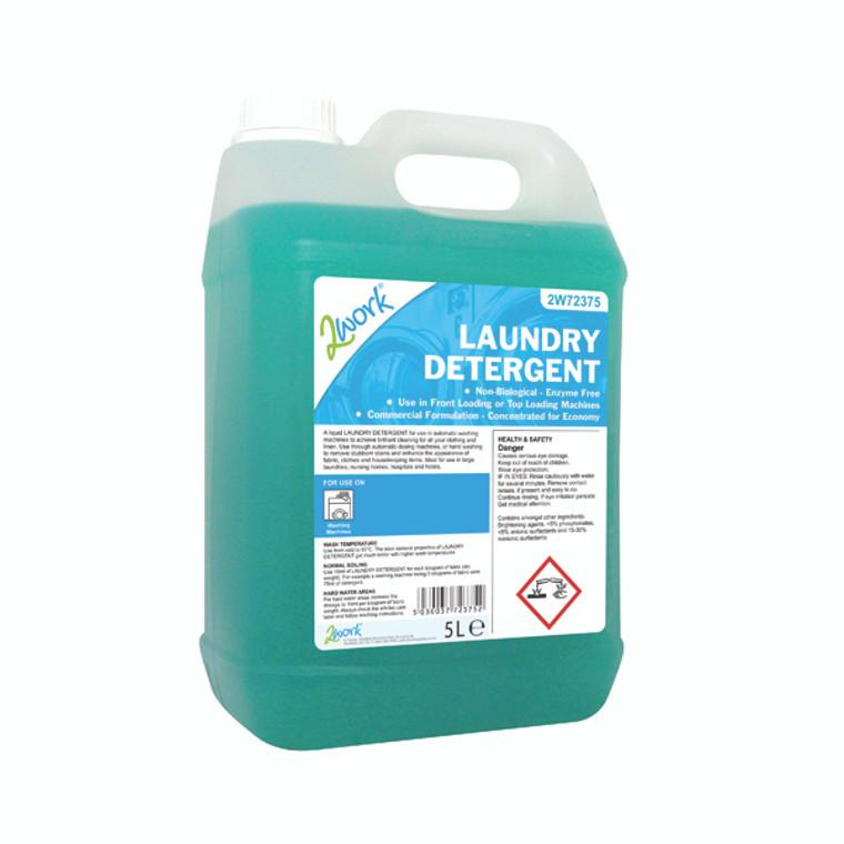 2W72375 2Work Liquid Laundry Detergent 5 Litre 2W72375