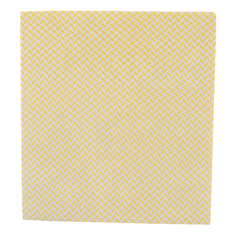 2W08163 2Work Med Weight Cloth 380x400mm Yellow Pack 5 103179Y