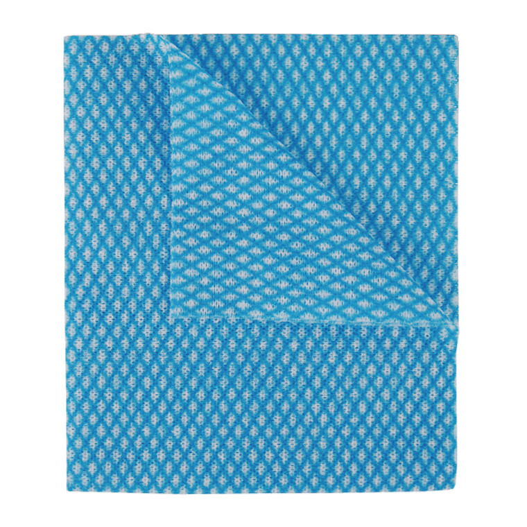 2W08168 2Work Economy Cloth 420x350mm Blue Pack 50 100226B