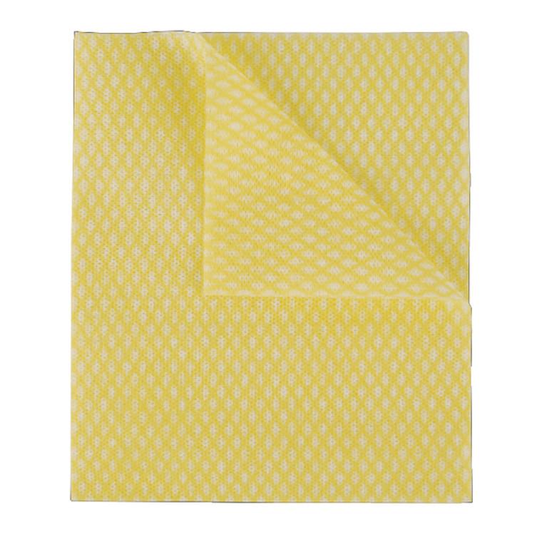 2W08171 2Work Economy Cloth 420x350mm Yellow Pack 50 100226Y