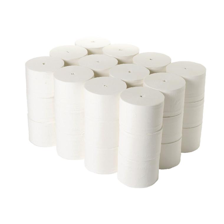 2W00697 2Work Micro Twin Coreless Toilet Rolls 800 Sheets Pack 36 TWH900