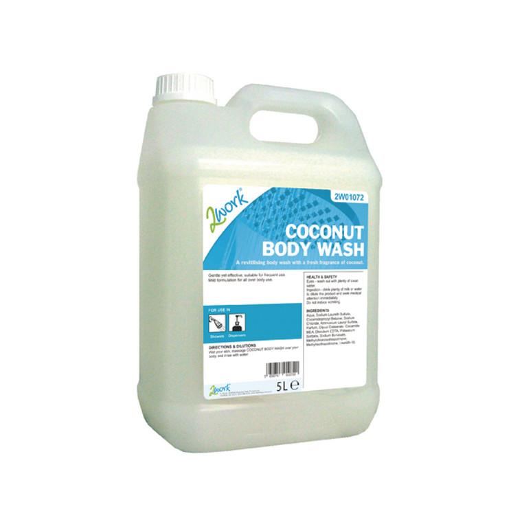 2W01072 2Work Coconut Body Wash 5 Litre 2W01072