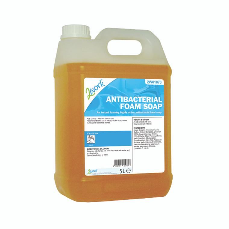 2W01073 2Work Antibacterial Foam Soap 5 Litre 2W01073