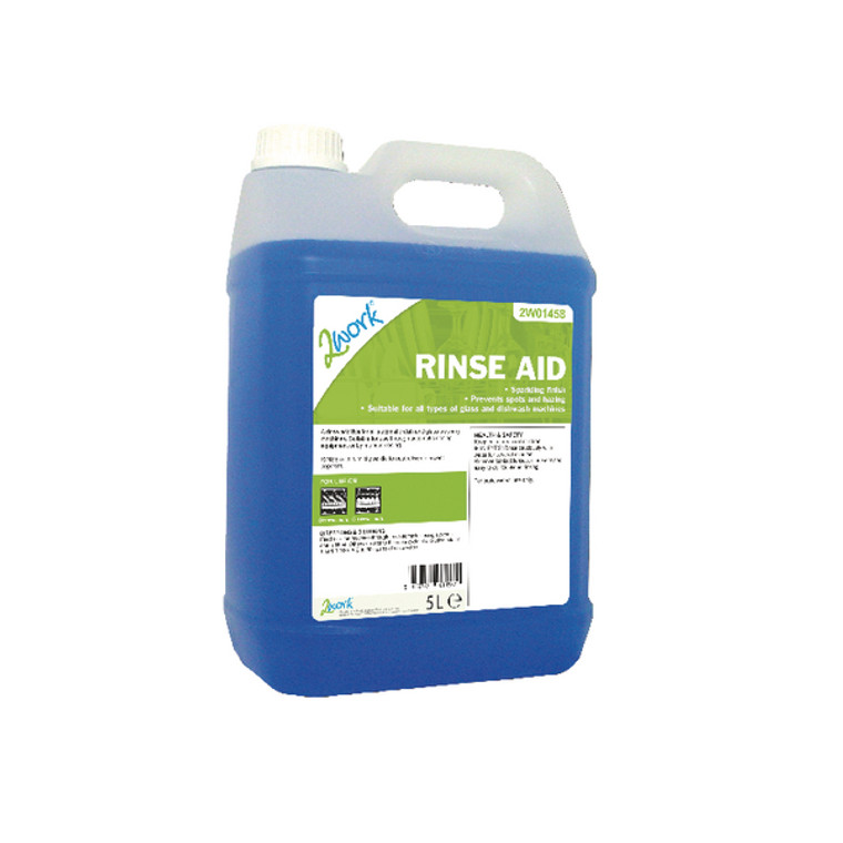 2W01458 2Work Concentrated Rinse Aid Additive 5 Litre Bulk Bottle 451