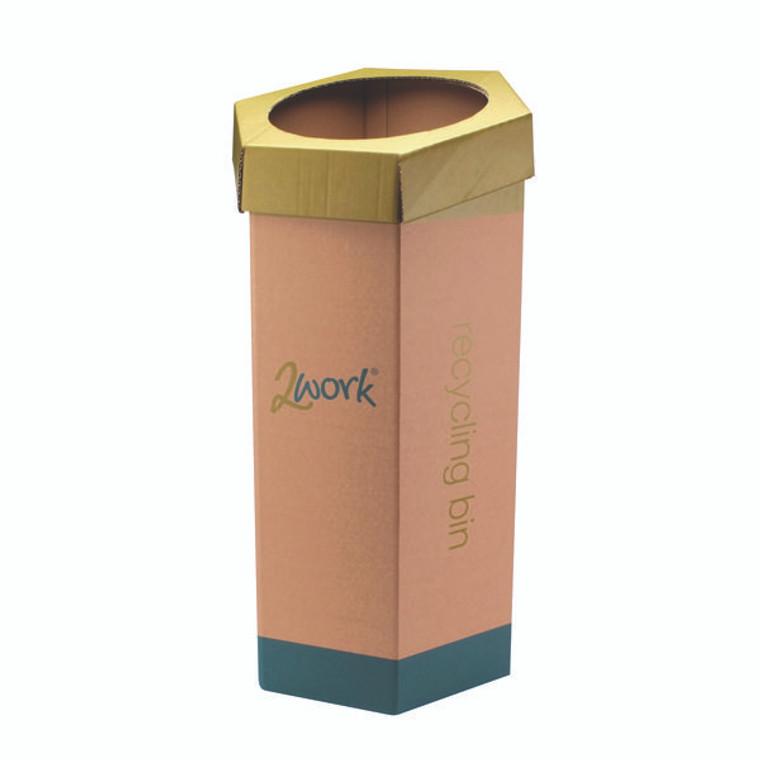 2W04262 2Work Recycling Bin Green Pack 3 CAP582758 A