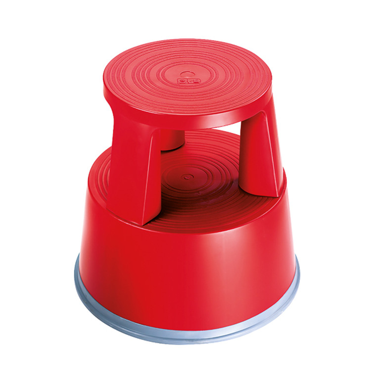 2W04999 2Work Plastic Step Stool Red T7 Red