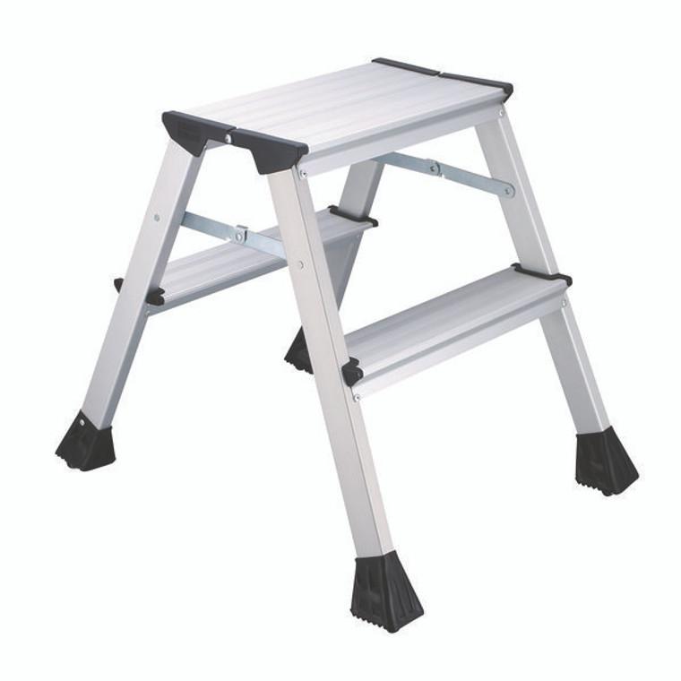 2W05001 2Work Mini 2-Step Ladder Metal 460mm L2
