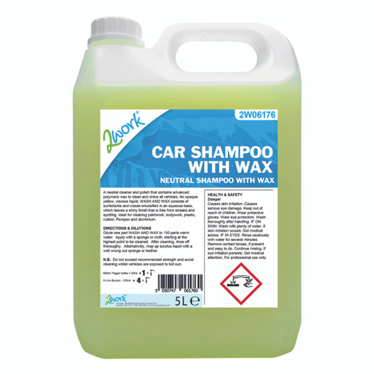 2W06176 2Work Car Shampoo with Wax 5L 447