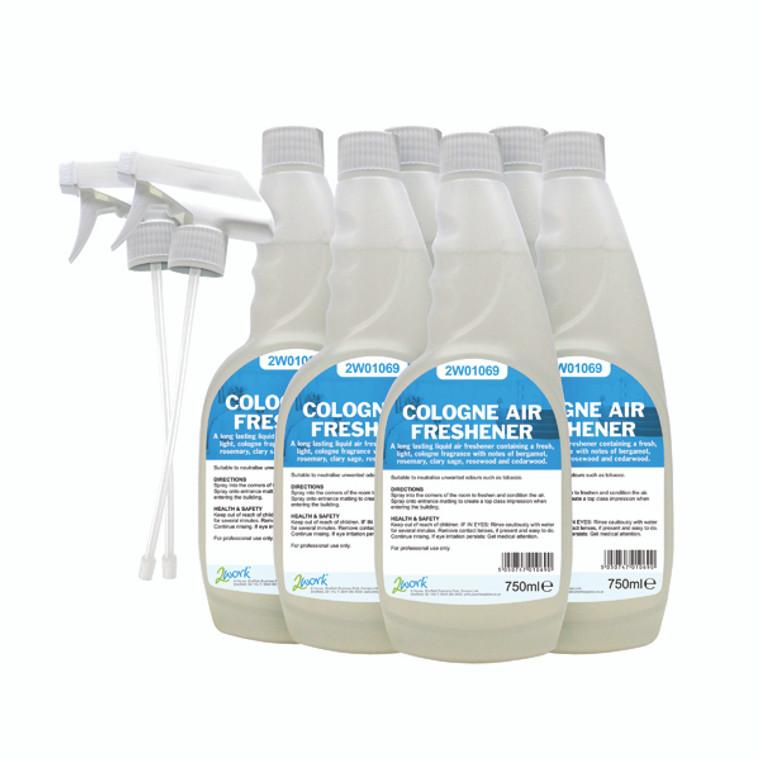 2W07247 2Work Cologne Air Freshener 750ml Pack 6 811