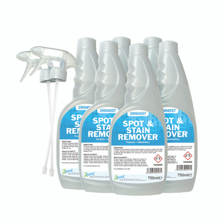 2W07252 2Work Carpet Spot Stain Remover 750ml Pack 6 442