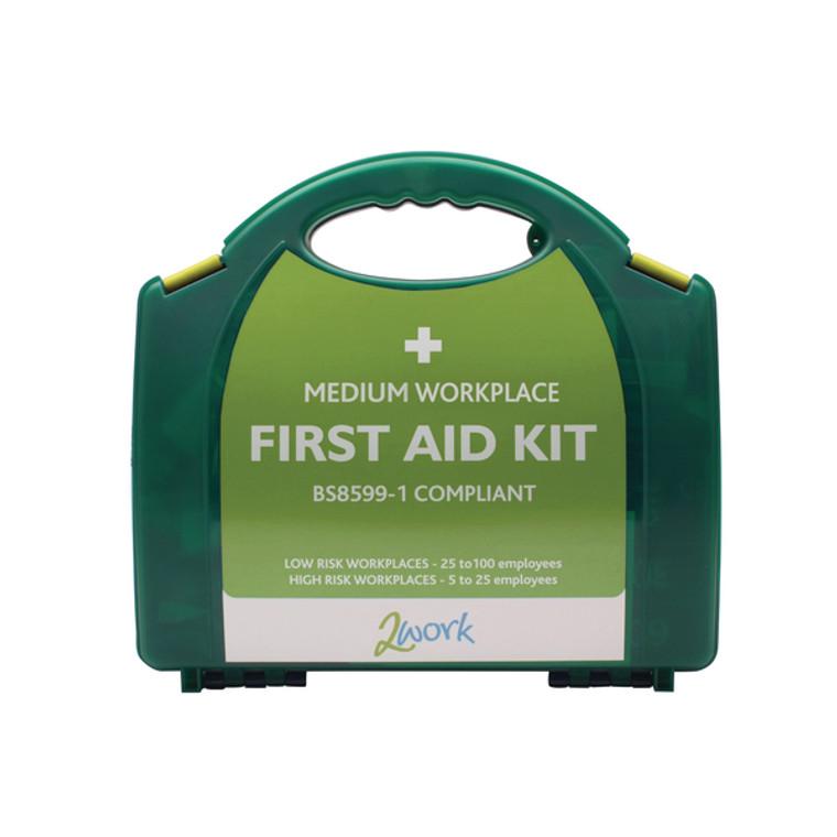 2W99438 2Work BSI Compliant First Aid Kit Medium 2W99438