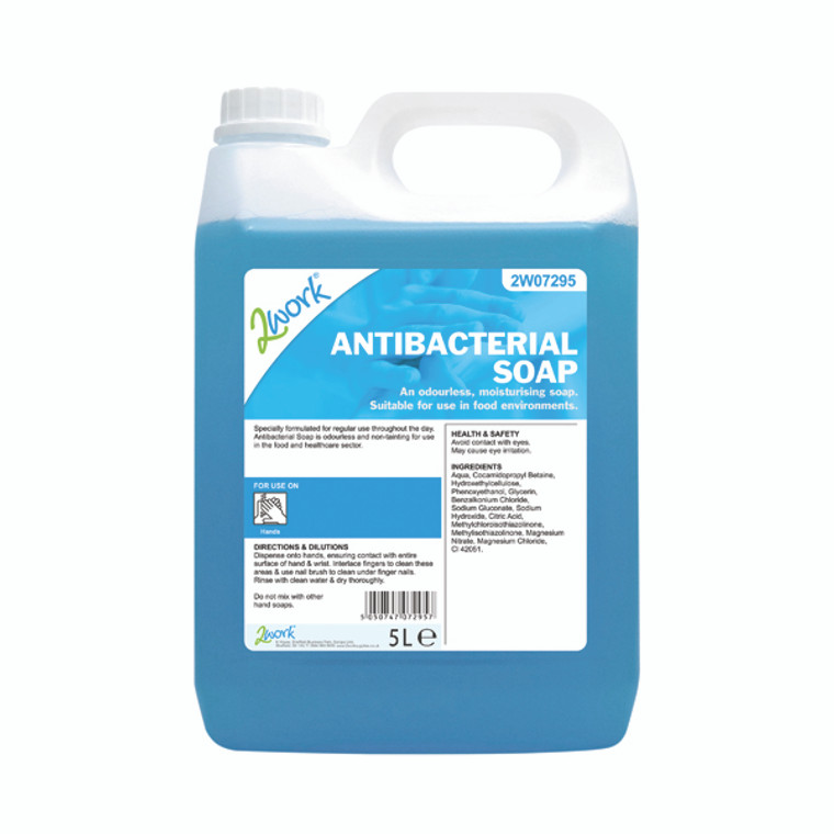 2W07295 2Work Antibacterial Soap 5 Litres 212