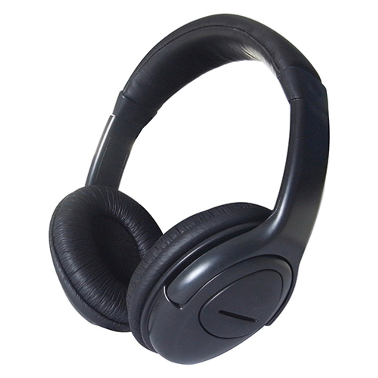 Headset with Clip-On Microphone Volume Control Adjustable Head Band Leather Ear Pads