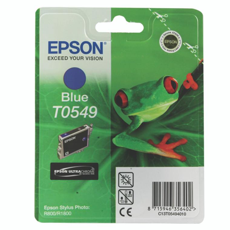 T054940 Epson C13T054940 T0549 Blue Ink Cartridge Frog