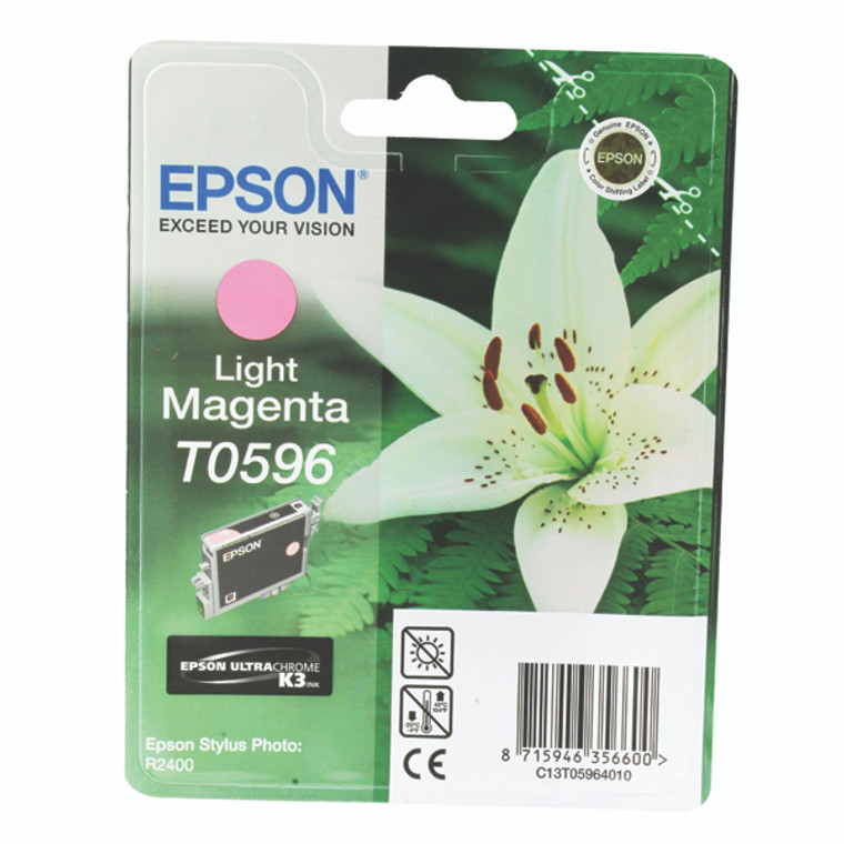 T059640 Epson C13T059640 T0596 Light Magenta Ink Cartridge Lilly