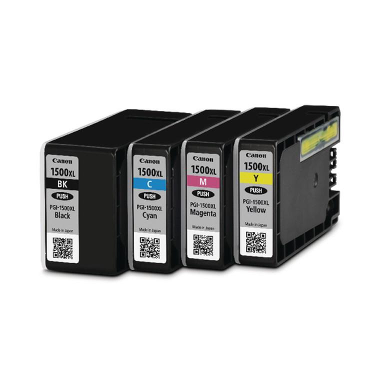 9182B004 Canon 9182B004 PGI-1500 XLCMYBK Multipack 4 Ink Cartridges High Capacity