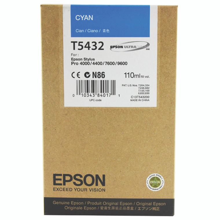 C13T543200 Epson C13T543200 T5432 Cyan Ink Cartridge