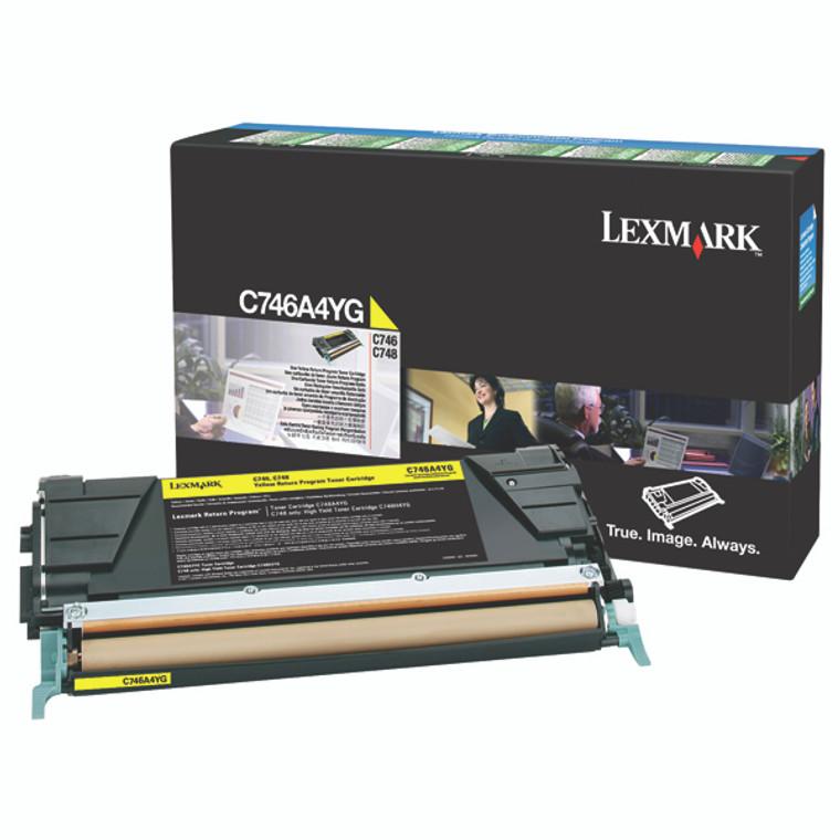 0C746A1YG Lexmark C746A1YG C746 Yellow Toner Use Return