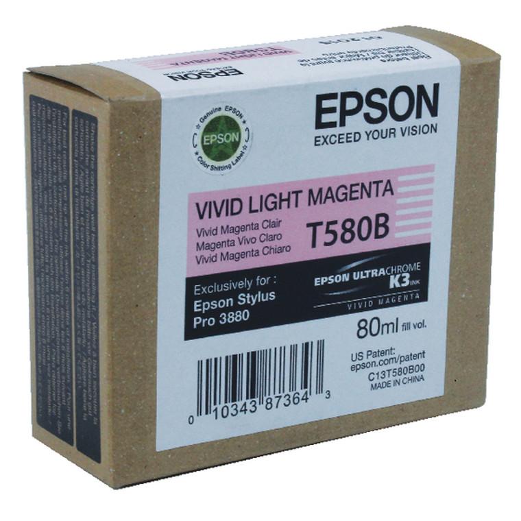 T580B00 Epson C13T580B00 T580B Vivid Light Magenta Ink Cartridge