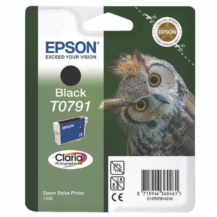 T07914010 Epson C13T07914010 T0791 Black Ink Cartridge Owl High Capacity