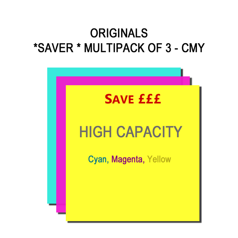 SET1184 HP C M Y B3P19A B3P20A B3P21A Multipack 3 Ink Cartridges