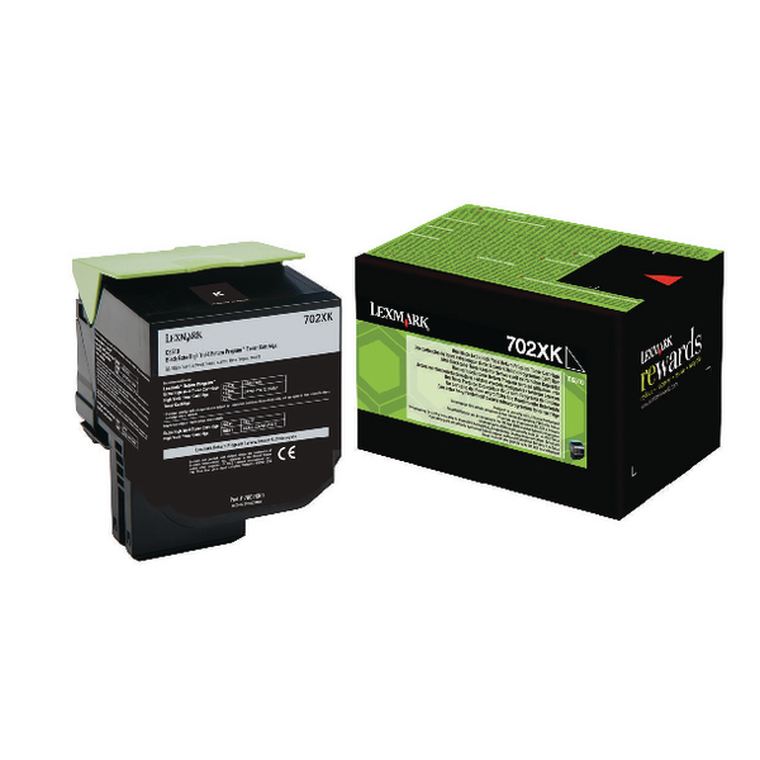 70C2XK0 Lexmark 70C2XK0 702XK Black Toner Extra High Capacity Use Return