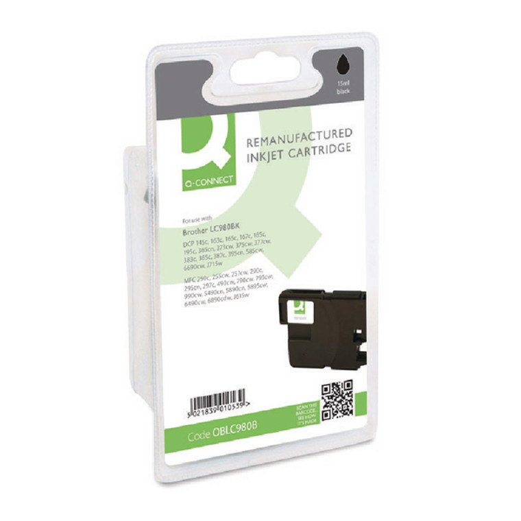 OBLC980B Compatible replace Brother LC-980BK Black Ink Cartridge
