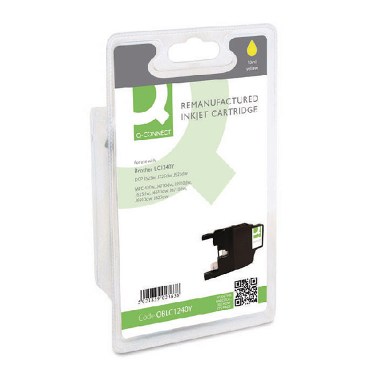 OBLC1240Y Compatible replace Brother LC-1240Y Yellow Ink Cartridge