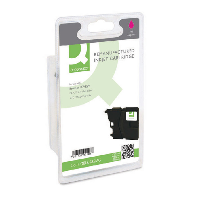 OBLC985MG Compatible replace Brother LC-985M Magenta Ink Cartridge