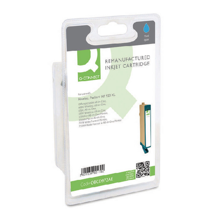 OBCD972AE Compatible replace HP CD972AE 920XL Cyan Ink Cartridge High Capacity