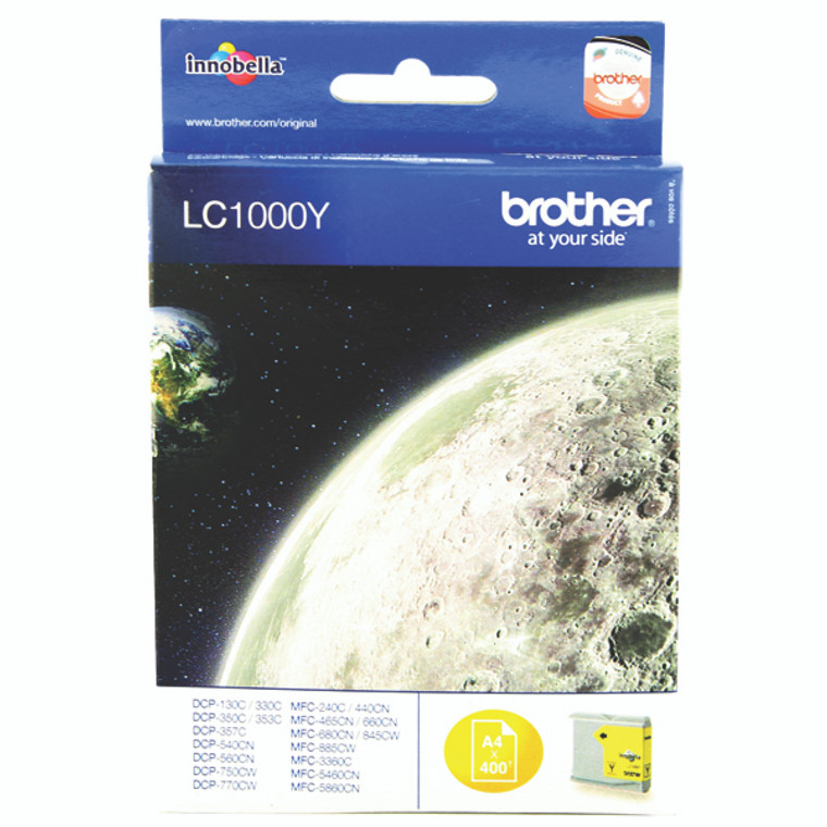 LC1000Y Brother LC-1000 Y Yellow Ink Cartridge