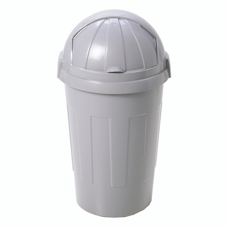 SBY20756 Casa Bullet Silver Roll Top Plastic Bin Capacity up 50 litres 374963