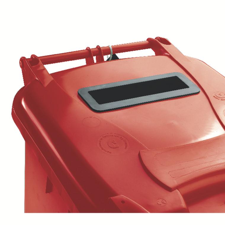 SBY22232 Confidential Waste Wheelie Bin 140 Litre Red 377903