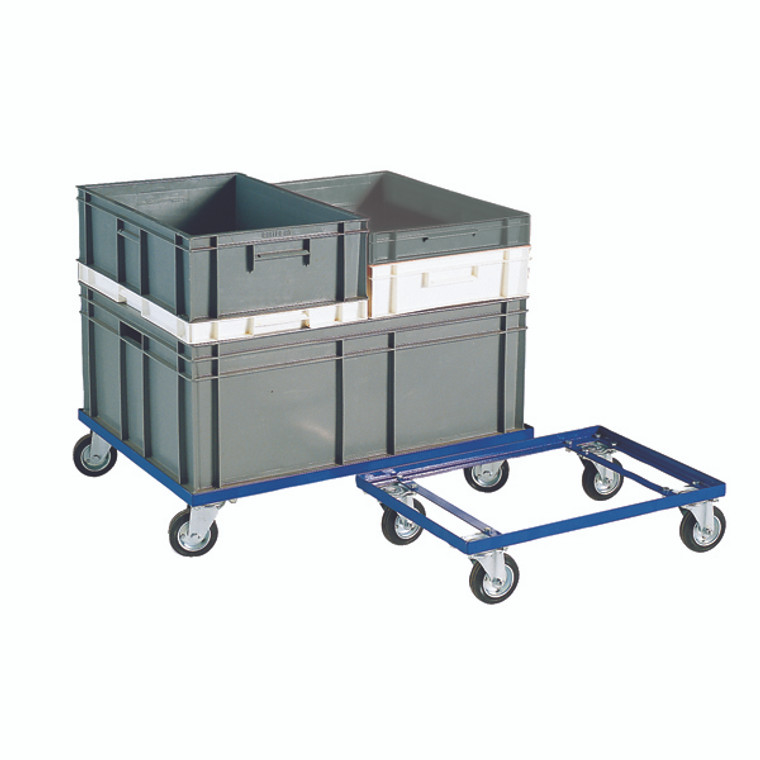 SBY10504 Blue 200kg Container Dolly 100mm Rubber Castors 321516