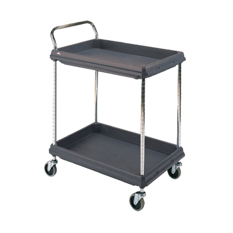 SBY10785 2 Tier Black H1041x W984xD689mm Deep Ledge Trolley 322447