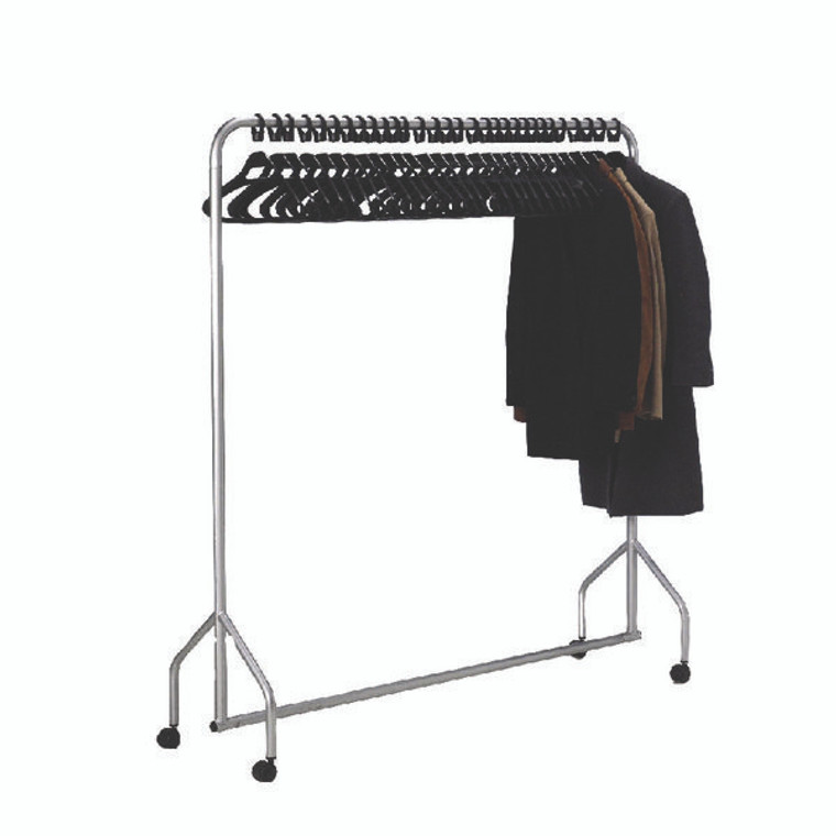 SBY08553 Silver Garment Hanging Rail With 30 Hangers 316939