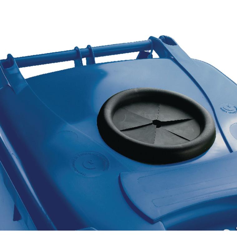SBY22214 Wheelie Bin With Bottle Bank Aperture 360 Litre Blue 377867