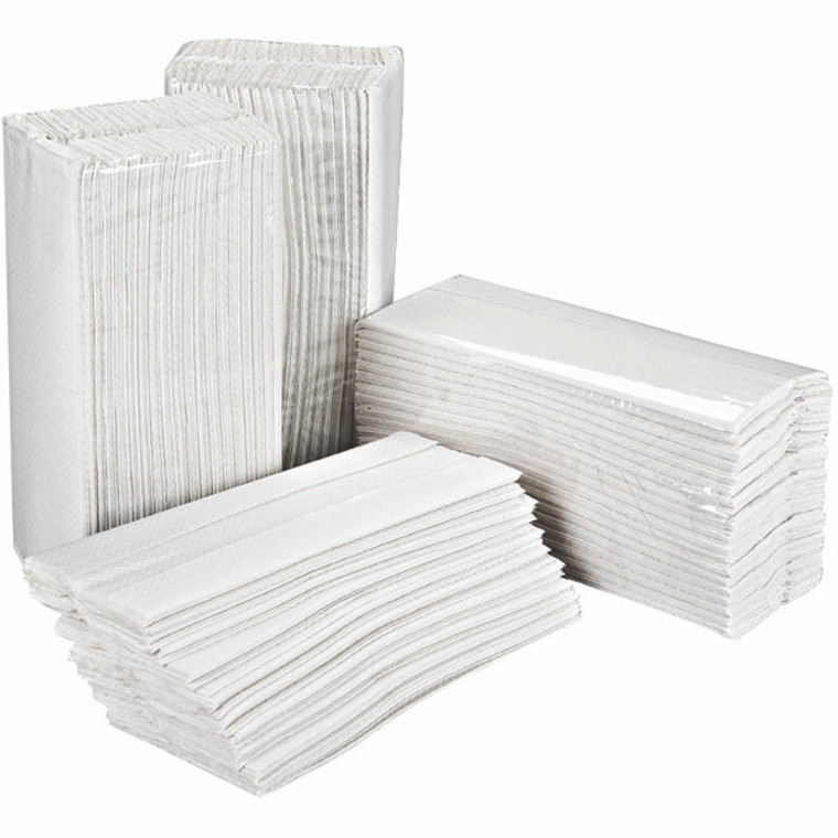 2W70063 2Work 2-Ply C-Fold Hand Towels White Pack 2355 HC2W23VW