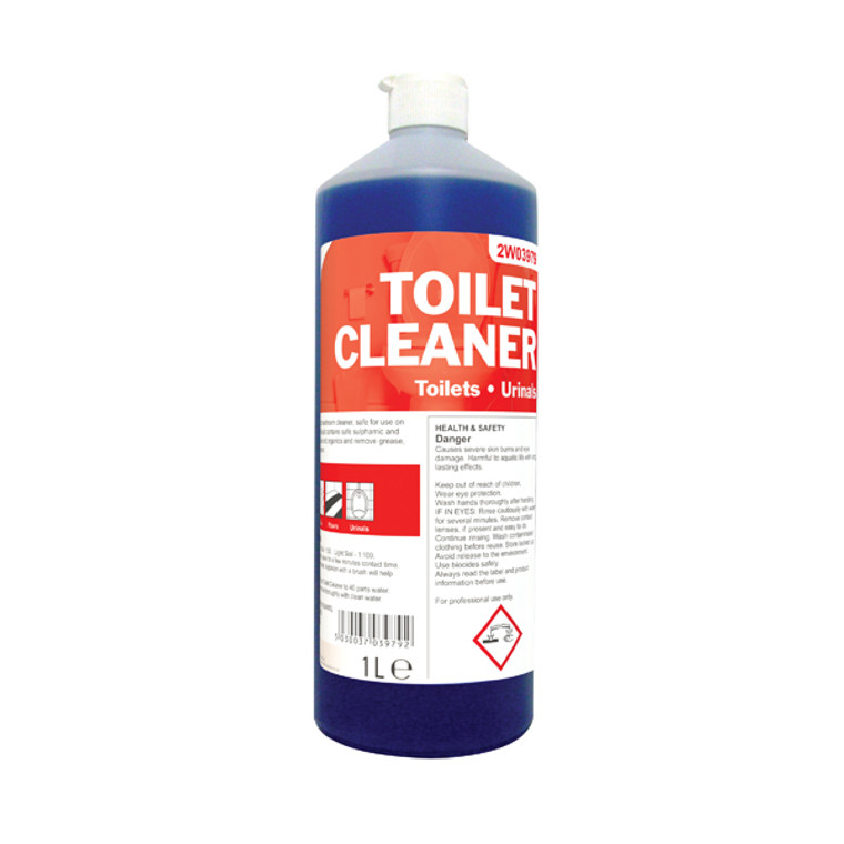 2W04577 2Work Daily Use Toilet Cleaner 1 Litre Pack 12 510 PACK