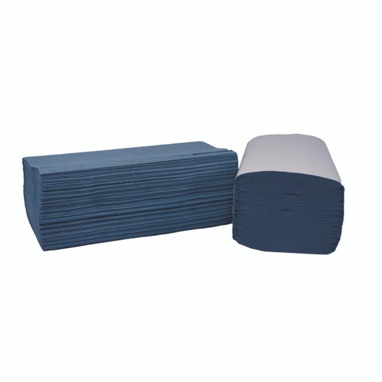 2W70104 2Work 1-Ply I-Fold Hand Towels Blue Pack 3600 2W70104