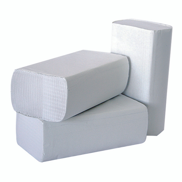 2W70583 2Work 1-Ply Multi-Fold Hand Towels White Pack 3000 2W70583