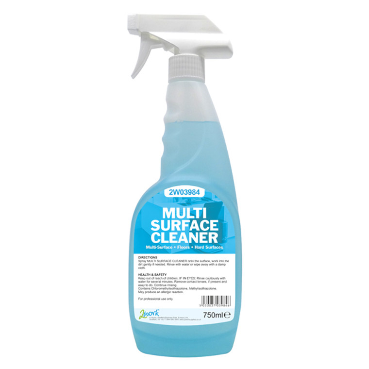 2W04587 2Work Multi Surface Trigger Spray 750ml Pack 6 497 PACK