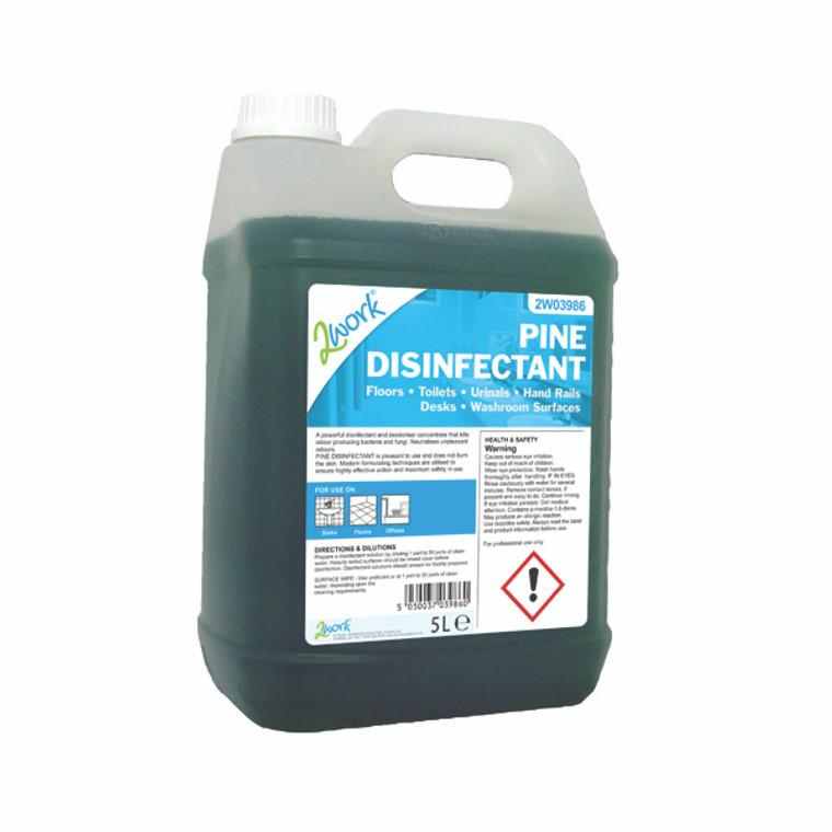 2W03986 2Work Pine Disinfectant 5 Litre Bottle 204