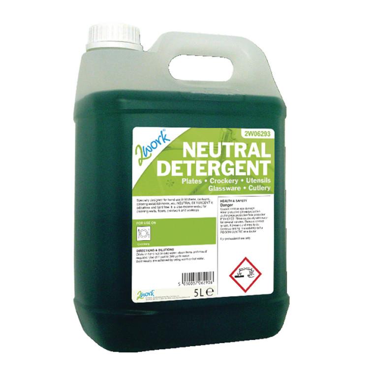 2W06293 2Work Dishwasher Neutral Detergent 5 Litre 432