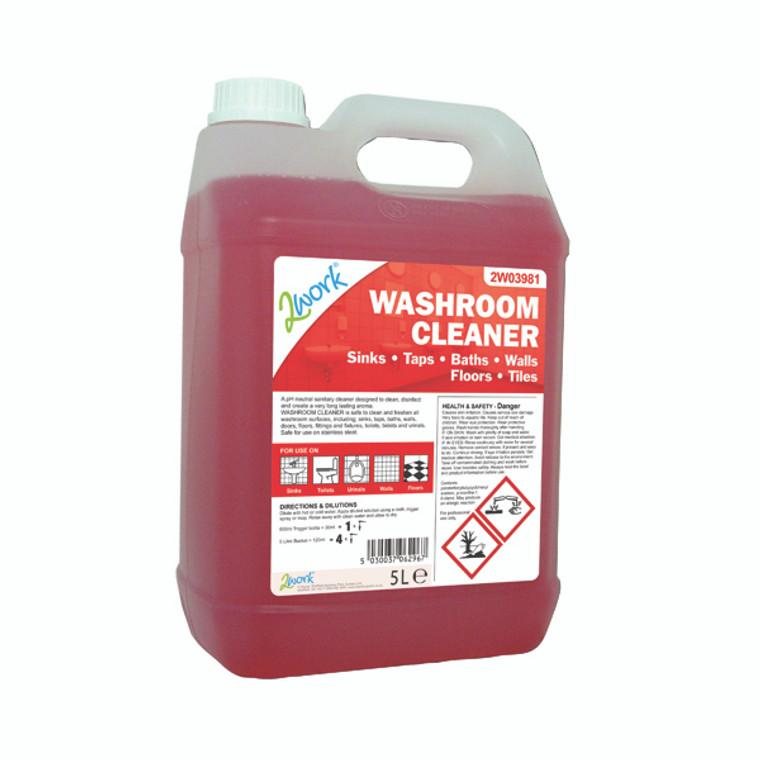 2W03981 2Work Washroom Cleaner 5 Litre 898