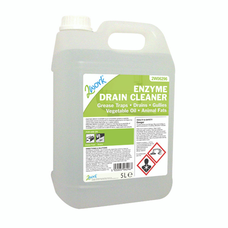2W06296 2Work Enzyme Drain Cleaner 5 Litre 2W06296