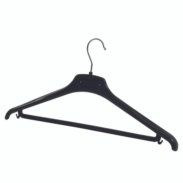 ALB00877 Alba Plastic Coat Hanger Black Pack 20 PMBASICPL