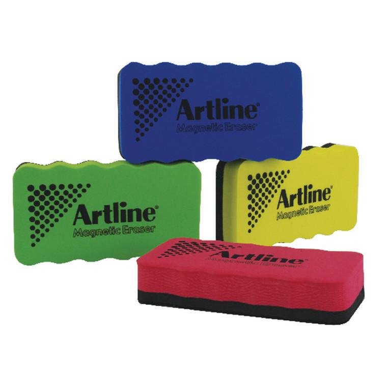 AR00357 Artline Smiley Whiteboard Eraser Assorted Pack 4 ERT-mmS-GB4